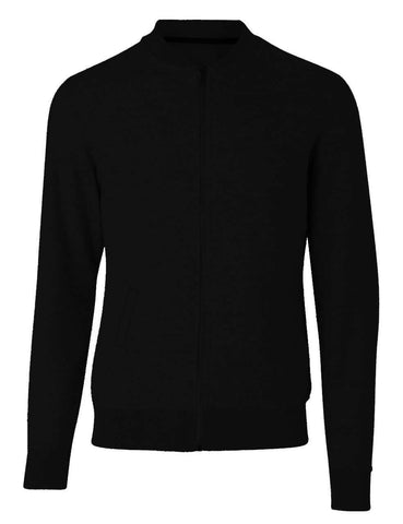 Plain Black Bomber Jacket