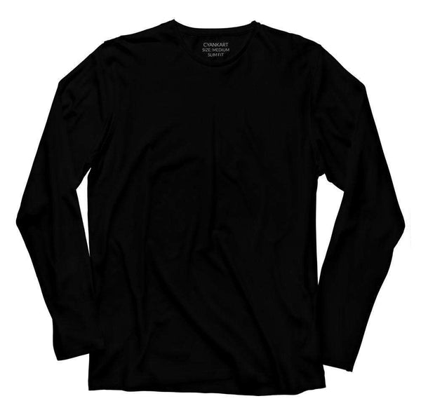 9d36a6ad9 Buy Black Full Sleeves T-Shirt for Men Online in India - Cyankart.com