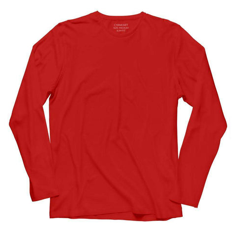Plain Red Full Sleeve T-Shirt
