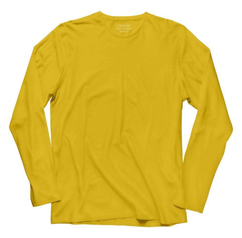 Plain Yellow Full Sleeve T-Shirt