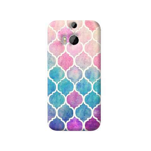 Rainbow Pastel HTC One M8 Case