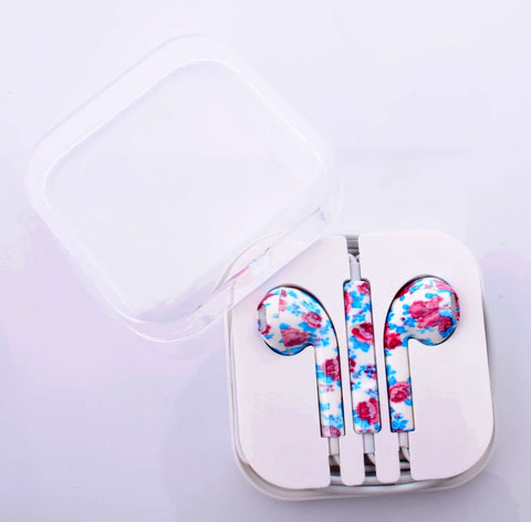 Retro Floral Earphones