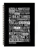 Rocky Balboa Typography Notebook