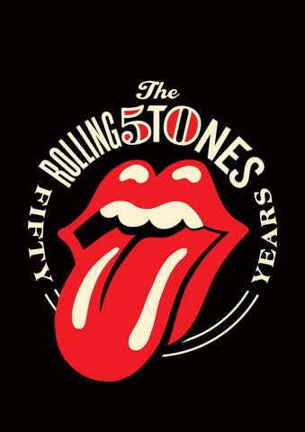 Rolling Stones 50 Years Poster