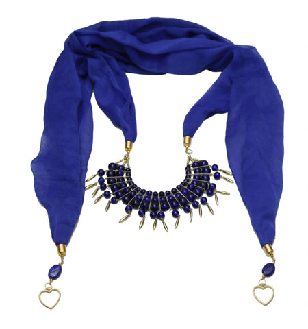 Royal Blue Necklace Scarf