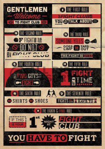 Rules of Fight Club Poster