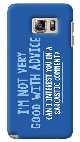 Sarcastic Comment   Samsung Galaxy Note 5 Case