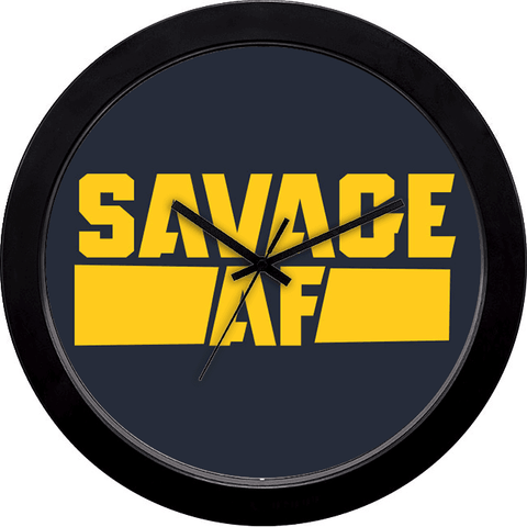 Buy cool funky wall clocks online in india cyankart savage af wall clock sciox Images