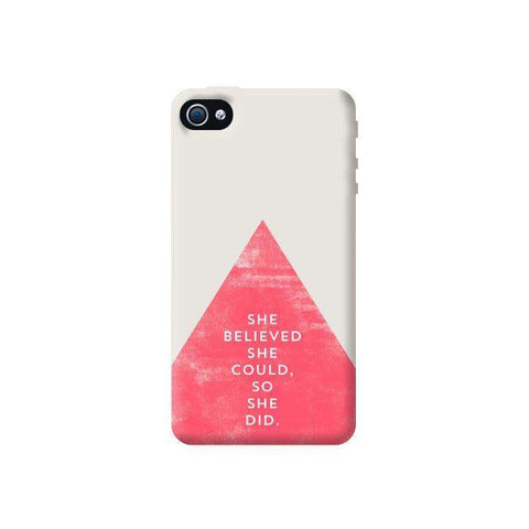 She Believed She Could Apple iPhone 4/4S Case