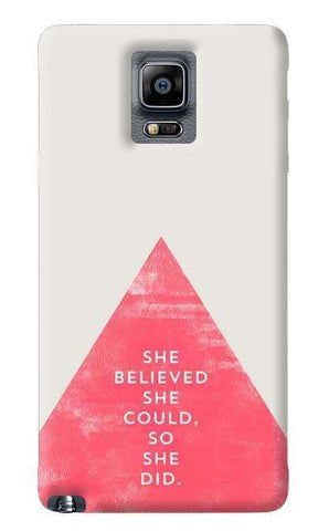She Believed She Could Samsung Galaxy Note 4 Case