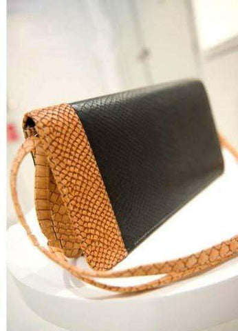 Snake Leather Purse - Orange