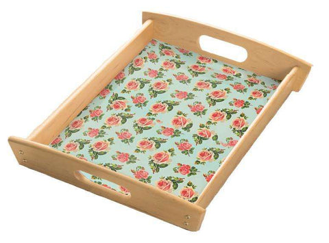 Spring Floral Serving Tray
