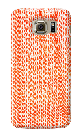 Stockinette Orange Samsung Galaxy S6 Case