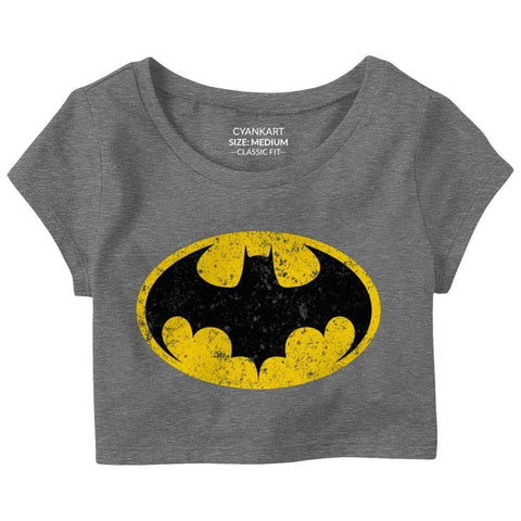 Superhero Bat Crop Top