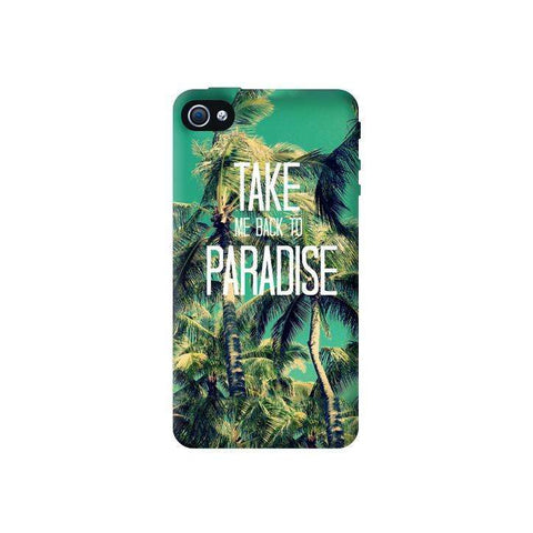 Take Me Back To Paradise Apple iPhone 4/4S Case