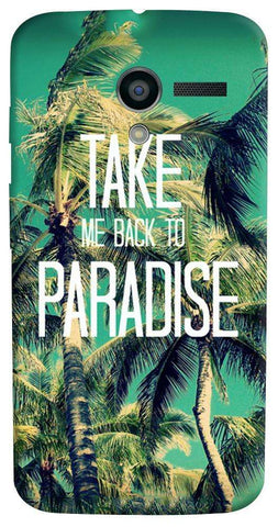 Take Me Back To Paradise Motorola Moto X Case