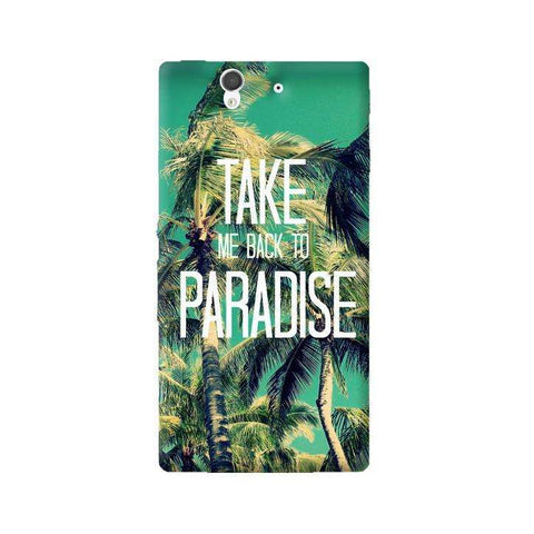Take Me Back To Paradise Sony Xperia Z Case