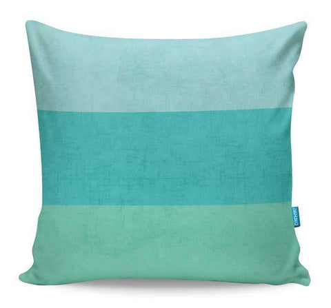 Teal Stripes Cushion Cover