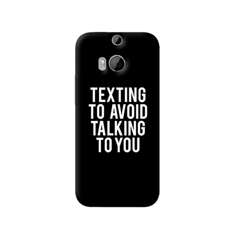 Texting HTC One M8 Case