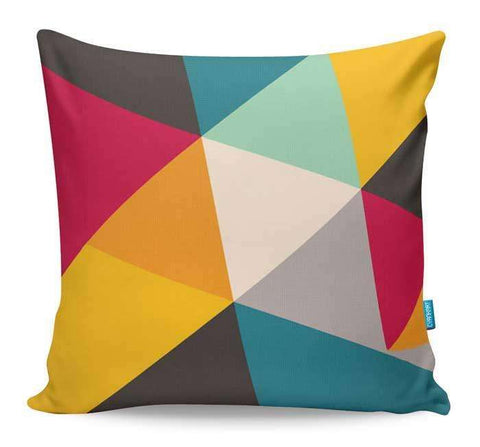Tilting Triangles Cushion Cover