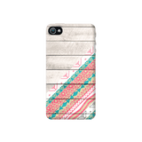 Tribal Aztec Wooden Teal Apple iPhone 4/4S Case