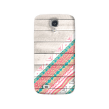 Tribal Aztec Wooden Teal Galaxy S4 Case