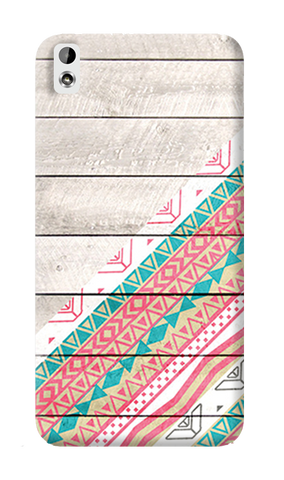 Tribal Aztec Wooden Teal HTC Desire 816 Case
