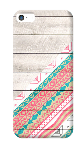 Tribal Aztec Wooden Teal iPhone 5/5S Case