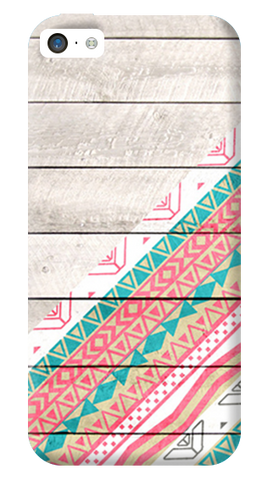 Tribal Aztec Wooden Teal iPhone 5C Case
