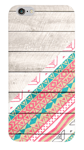 Tribal Aztec Wooden Teal iPhone 6/6S Case