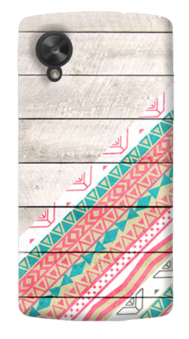Tribal Aztec Wooden Teal LG Nexus 5 Case