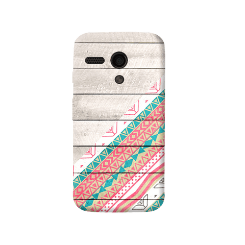 Tribal Aztec Wooden Teal Moto G Case