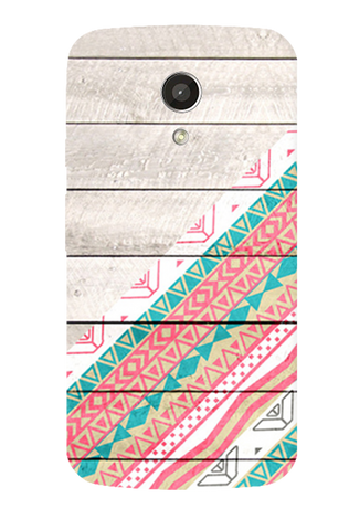 Tribal Aztec Wooden Teal Motorola Moto G 2nd Gen Case