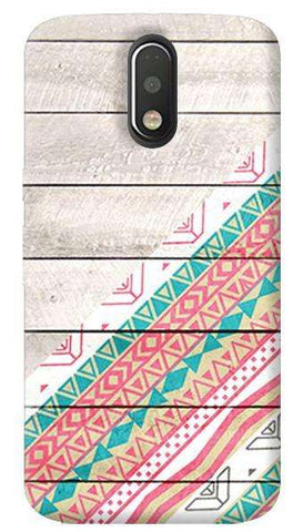 Tribal Aztec Wooden Teal Motorola Moto G4/ G4 Plus Case