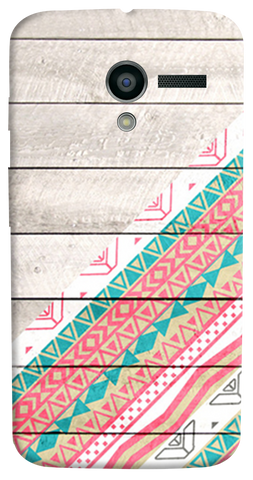 Tribal Aztec Wooden Teal Motorola Moto X Case