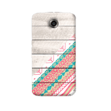 Tribal Aztec Wooden Teal Nexus 6 Case