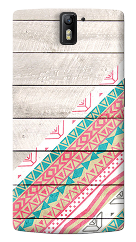 Tribal Aztec Wooden Teal Oneplus One