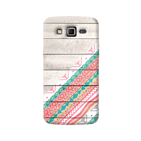 Tribal Aztec Wooden Teal Samsung Galaxy Grand 2 Case