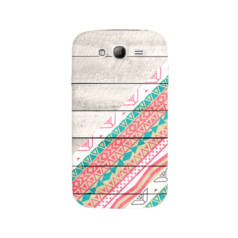 Tribal Aztec Wooden Teal Samsung Galaxy Grand Case