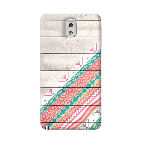Tribal Aztec Wooden Teal Samsung Galaxy Note 3 Case