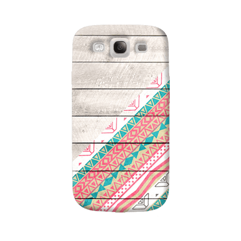 Tribal Aztec Wooden Teal Samsung Galaxy S3 Case