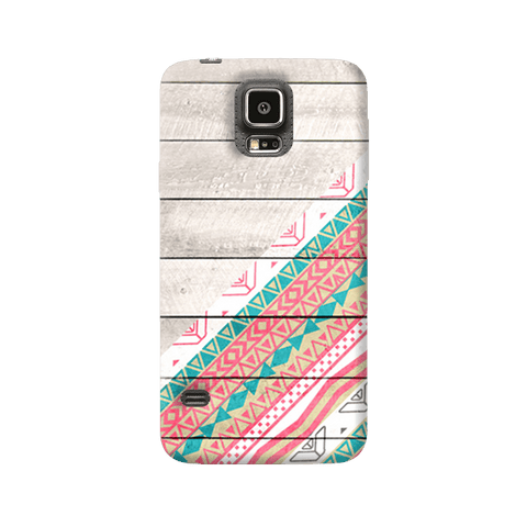 Tribal Aztec Wooden Teal Samsung Galaxy S5 Case
