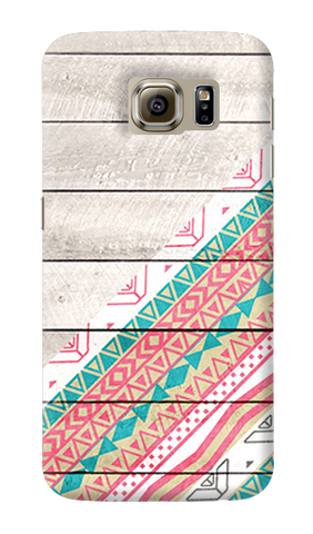 Tribal Aztec Wooden Teal Samsung Galaxy S6 Case