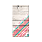 Tribal Aztec Wooden Teal Sony Xperia Z Case