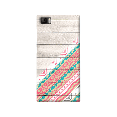 Tribal Aztec Wooden Teal Xiaomi Mi3 Case