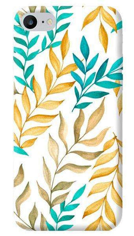Tropical Leaves Yellow & Blue Apple iPhone 6/6S Case