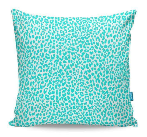 Turqouise Leopard Cushion Cover