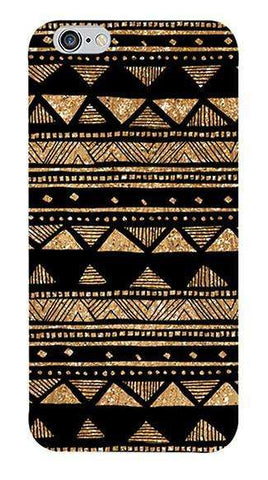 Vintage Gold Tribal Stripe Black  Apple iPhone 6/6S Case
