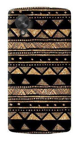 Vintage Gold Tribal Stripe Black  LG Nexus 5 Case