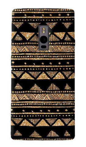 Vintage Gold Tribal Stripe Black  OnePlus Two Case